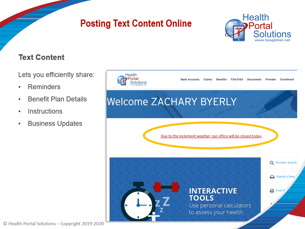 Posting text content online screen
