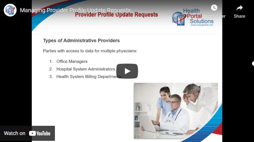 provider profile update requests screen