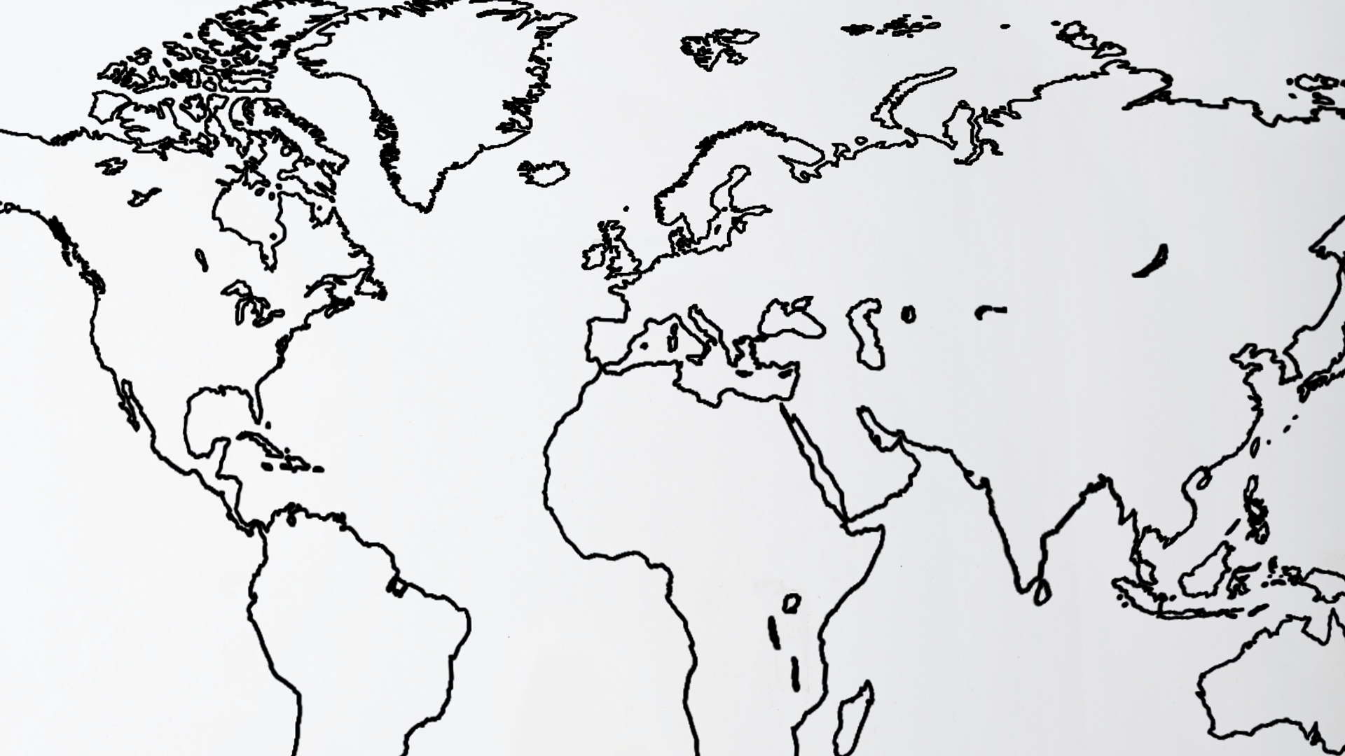 world map black outline