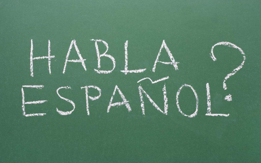 Do you speak spanish written in chalk