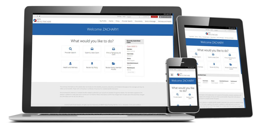 member home simple on desktop, laptop and mobile device